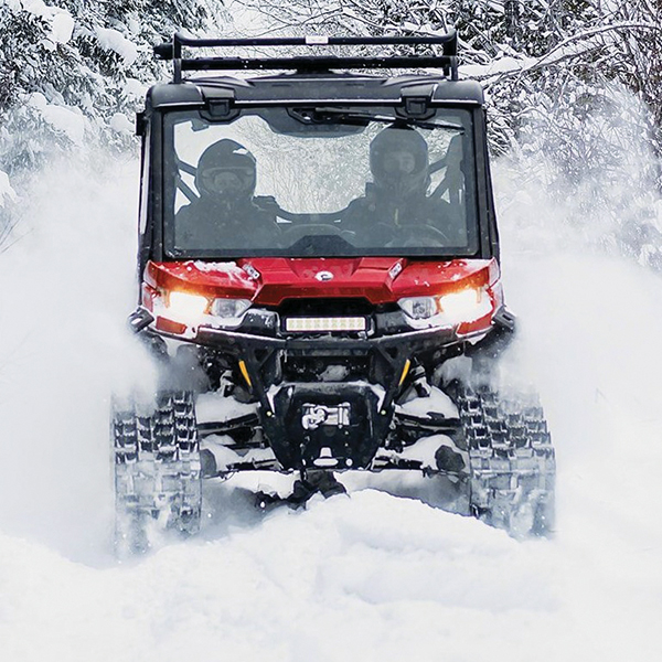 ORV's with Tracks doesn't make them legal during Snowmobile Season.