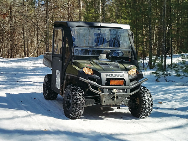 ORV's on Snowmobile Trails create a Safety Hazard as well as damage to the trail.