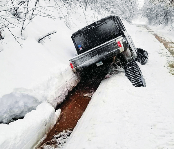 ORV's, wheeled or tracked, cause irreparable damage and create safety hazards to snowmobile groomed trails.