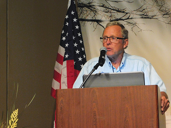 ISMA President Ed Klim presents the State of the Industry update at the Friday morning session.